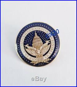RARE Official Donald Trump 2017 1 Inaugural Seal Label Pin Gold 45 MAGA Coin