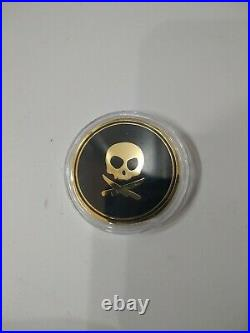 RARE Pete's Pirate Life Peter McKinnon 18K Gold Plated Coin V1 Fly the Flag