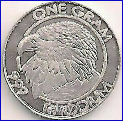RHODIUM Eagle 1 Gram 99.9% Pure Cohen Mint Higher Value Than Gold Or Palladium
