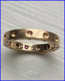 ROBERTO COIN Authentic Rose Gold Pois Moi 18K Ring Symphony Collection Sz 6