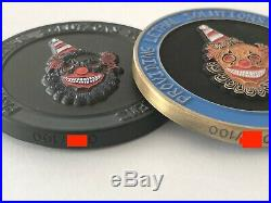 Rare CIA SAD SAC DO Tactical Gentleman Black and Gold Clown Challenge 2 Coins