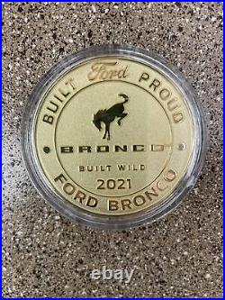 Rare Ford Bronco Coin. 2021 Built Wild Commemorative limited production