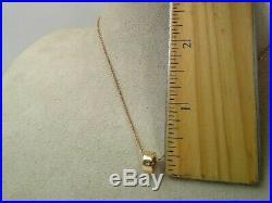 Roberto Coin 18 Karat Rose Gold Pendant Necklace Pois Moi Collection Retail $790