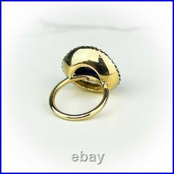 Roberto Coin Art Deco Haute Couture Collection Ring 18k Gold Tsavorite Diamond
