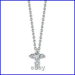 Roberto Coin Baby Cross White Gold Tiny Treasures Collection Pendant 001883AWCHX