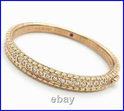 Roberto Coin Cento Collection 18K Rose Gold with Diamond Bangle Bracelet