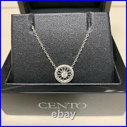 Roberto Coin Cento Collection 18k White Gold & Diamond Mini Rosette Necklace