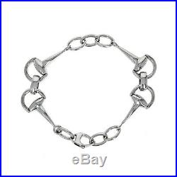Roberto Coin Cheval Collection Horse Bit Bracelet, 18 Karat White Gold, 7.5