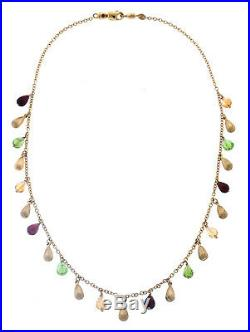 Roberto Coin Fringe Collection Drop Necklace 16.5 Inches 18K Yellow Gold