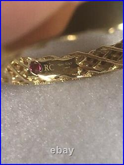 Roberto Coin Symphony Collection 18K Yellow Gold Golden Gate Band Ring Size 7