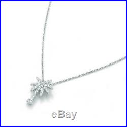 Roberto Coin Tiny Treasures Collection Palm Tree Necklace in 18k White Gold