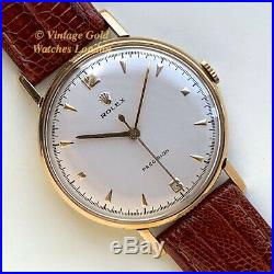 Rolex Precision'coin Edge', 9ct, 1959 Highly Collectable And Immaculate