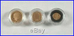 Royal Mint 2012 Gold Proof Sovereign Three-Coin Collection Low Cert No