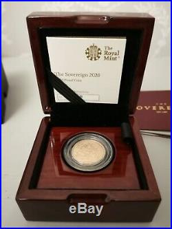 Royal Mint 2020 Gold Sovereign Proof Coin Collectable with COA