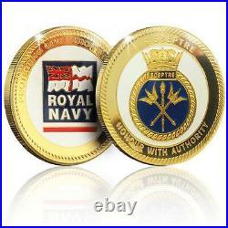 Royal Navy Memorabilia Gold Coin Medal Swiftsure Class Submarine Box Set