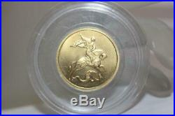 Russia 2010 St. George the victorious 50 Rubles 24K Solid Gold Coin Collectible