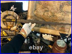 SPANISH COLONIAL SWORD CA. 1700's ANIMAL HORN HANDLE PIRATE GOLD COINS with COA