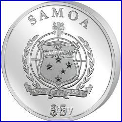 Samoa 2016 10$ Gold Leaf Collection 3D Four Leaf Clover 1 oz Silver Coin 5