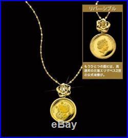 Sanrio Hello Kitty 45th Anniversary Gold Coin Diamond Pendant Necklace96