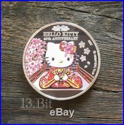 Sanrio Sakura Hello Kitty 40th Anniversary Silver & Gold Plated Coin 4pc Set