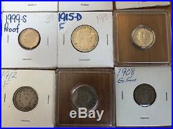 Silver and Gold Coin Collection (Barber Head, Capped Bust, Peace Type, Etc.)