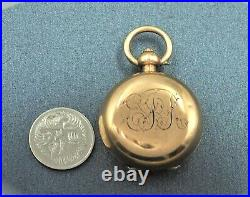 Sovereign Cases Coin Holder Gold Plated A. L. D Dennison Wathe Casf Co Collectable