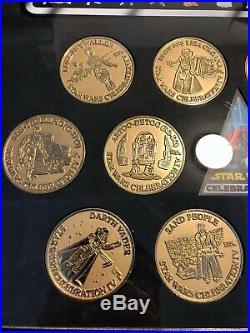 Star Wars Celebration IV 12 Associate Gold Medallion Coin Set