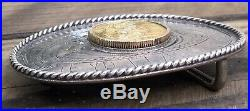 Sunset Trails Sterling Dragon Slayer Gold Coin bullion Rodeo Trophy Belt Buckle