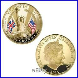 The 70th Anniversary WWII Victory Crown Coin Collection Bradford Exchange