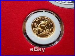 The PANDA PRESTIGE GOLD AND SILVER COLLECTION 1982-1992 (11 Coin Set) #21/99