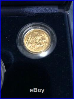 The Victoriana sovereign collection 5 coins (4 are 22 carat gold)-limited +coa