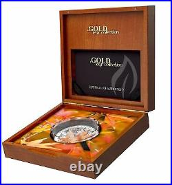 Tokelau 2017 5$ Gold Leaf Collection 3D Japanese Maple Leaf 1 Oz Silver Coin 7