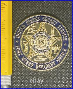 US Secret Service Fort Myers City Of Palms GOLD Resident Office Challenge Coin
