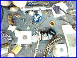 Ultimate Antique Junk Drawer Lot Coins Sterling And Gold