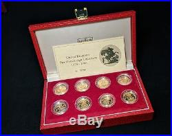 United Kingdom Proof Gold Sovereign 8-Coin Collection 1979 1986 with Box & COA