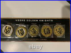 Vegas Golden Knights PreSeason 2021-22 Coins & Holder Complete Collection