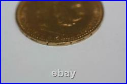 Vintage 1897 22K Solid Gold Austria 10 Coronas Coin Rare Collectible Currency