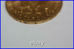 Vintage 1908 22K Solid Gold Austria 10 Corona Coin Rare Collectible Currency