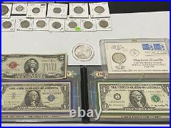 Vintage Coin Collection Silver Coins, Paper Currency, Mint Proof Sets, ETC