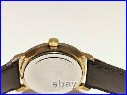 Vintage Rare Golden Tone Collectible Men's Swiss Watch With Twenty USA Coin Dial
