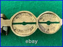 Vintage Victorian Brass Rocker Gold Sovereign Coin Balance Scale