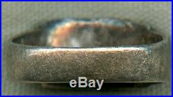 WWII Coin Silver & Gold Soldier Souvenir Ring from Manila, Philippine Islands