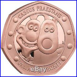 Wallace and Gromit 2019 UK 50p Gold Proof Coin, Confirmed, Limited Edition 630
