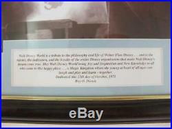 Walt Disney World 40th Framed WALT Art 24kt Gold Magic Kingdom Minted Coins Set